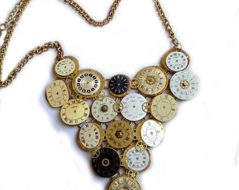 Time in pieces - Steampunk collier