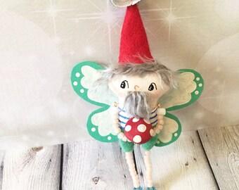 Fairy Gnome Ornament - OOAK