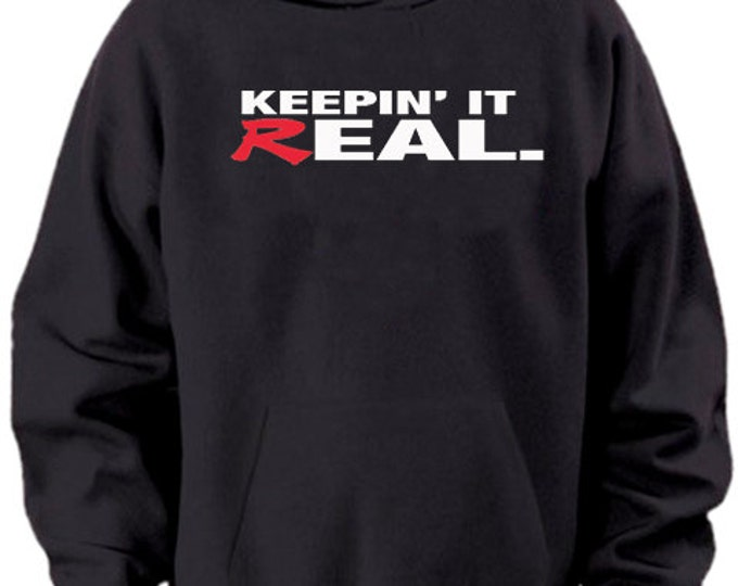 Keepin It Real Honda Black Hoodie Sweater