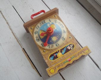 Vintage 1964 Fisher Price Teaching Tick Tock Clock
