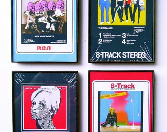 8-Track Tapes and Japes Pop Art, set of 4, by Zteven