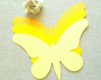 Butterfly Die Cuts (A),Yellow Butterfly Die Cuts,Paper Butterfly  Cutouts,Butterfly Wall Decoration Wedding Butterflies Butterfly Die Cut