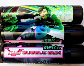 D.va Overwatch Bubblegum Lip Balm With Coconut Oil, Beeswax and Sweet Almond Oil