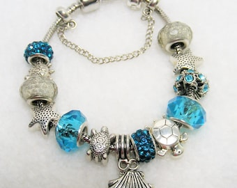 Turtle Starfish European Style Bracelet