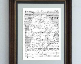 Ludwig Van Beethoven, Portrait with his Sixth Symphony