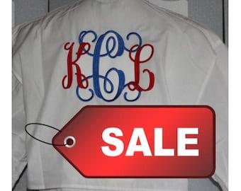 Monogrammed Fishing Shirts -- SIZE LARGE--Long Sleeve/ Bridesmaid Gift/ SAVE Five Dollars Now!