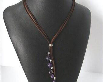 Amethyst Cascade Necklace