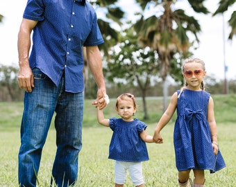 GIRLS BLOUSE-  Father daughter matching shirt and blouse (sold separately). Perfect gift for showers, birthdays &  photos! Daddy daughter.
