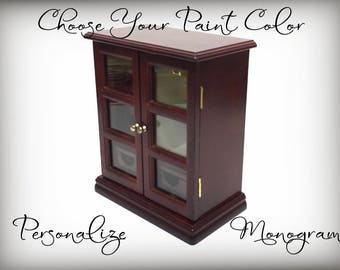 Jewelry Armoire, Custom Had Painted Jewelry Box, Gift For Teen, Choose Color and Design, Made To Order, Gift for Wife, Girl