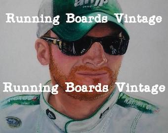 Print of  Painting of Race Car Driver, Dale, jr.  ~ 2008  Digital Download~ NASCAR Driver Dale Earnhardt jr.