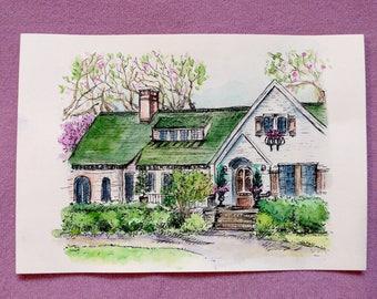 New Home Card, Housewarming Card, New House Card, Greeting Card, Moving Card, Home sweet home card, Happy Housewarming Card, House Design