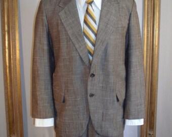 Vintage 1980's Der Herr Brown Suit - Size 44