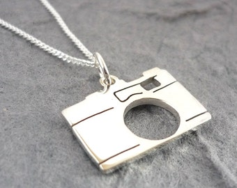 Sterling silver classic Camera Handmade pendant