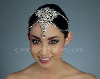 Bridal Rhinestone Head piece - Ships in 1 week