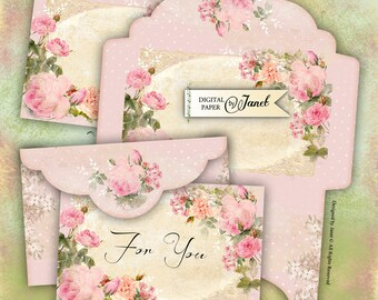 Envelopes No3 - digital collage sheet - set of 2 sheet - Printable Download