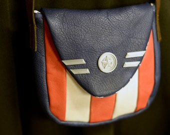 Captain America Leather Cross Body Purse