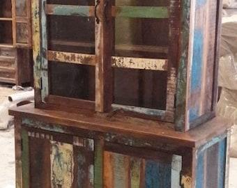 Reclaimed wood display case / cupboard