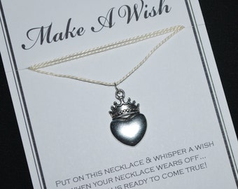 Princess Heart Crown Wish Necklace - Buy 3 Items, Get 1 Free