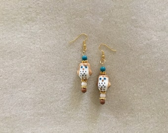 "2 & 1/2"" Dangle Earrings, Large Owls."