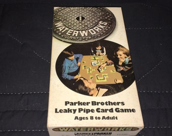 Waterworks Parker Brothers leaky pipe card game