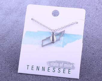 Customizable! State of Mine: Tennessee Football Silver Necklace - Great Football Gift!
