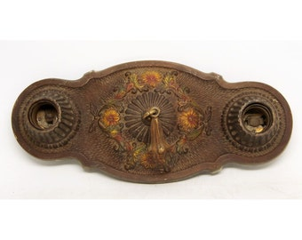 Iron floral flush mount fixture