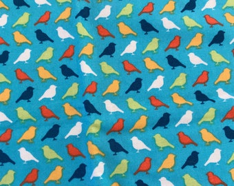 Park Slope by Erin McMorris Birds #EM04 Fat Quarter Quilt Fabric, Sewing Fabric Retro, Out Of Print