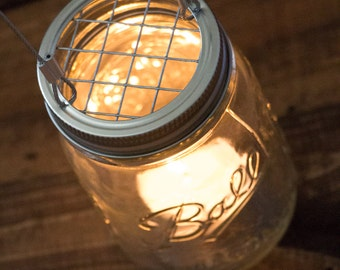 Set Of 20 Hanging Mason Jar Candle Holders   Wire Hangers   Rustic  Industrial Wedding