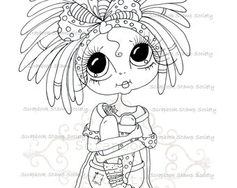 INSTANT DOWNLOAD Digital Digi Stamps Big Eye Big Head Dolls Digi  My - Besties  IMG692 By Sherri Baldy