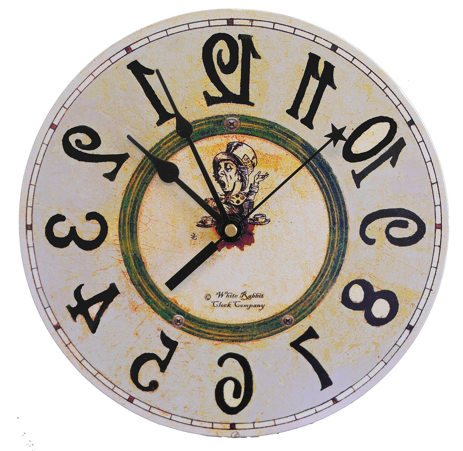 backwards clock alice in wonderland decor mad face clip art images angry face clipart