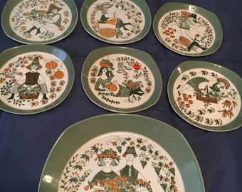 Norweigan hand painted dishes