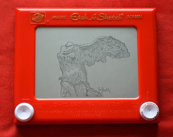 Winged Victory signed Etch A Sketch art print (pick your size!)