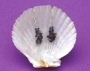 Iolite gemstone and sterling silver earrings, Hypoallergenic earrings, Sagittarius zodiac sign, Chakra jewellery, Blue earrings