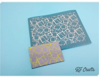 Crazy Squares Silk Screen For Polymer Clay, Wood, Glass, Tile, and More / Silk Screen #57