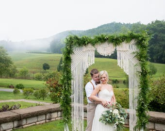 WEDDING MACRAME backdrop, Bohemian wedding backdrop, Wedding Arch, Wedding macrame decor