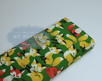 Fabric Japanese foxes