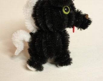 Chenille Horse - Black with White Mane
