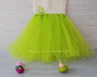 Dress for child or baby girl with tulle, baby girl dress, bridesmaid dress, baby party, baptism girl