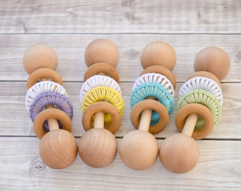Baby Toys, Wooden Baby Rattle, Baby Shower Gift, Wood Rattle, Montessori Baby, Wooden Baby Toys, Unique Baby Shower Gift, Eco Friendly Baby
