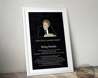 Being Human Villains edition poster - Choose from 8 characters (Made to order)