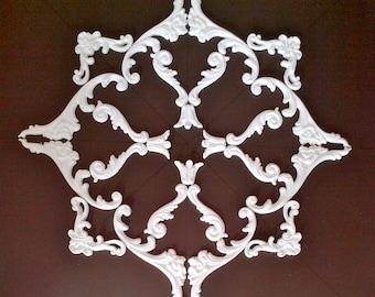 Plaster decoration - ceiling mirror - No. stucco. 4