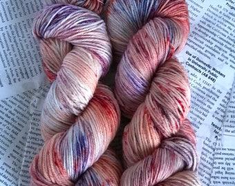 """Superwash Wool/Nylon Blend hand-dyed sportwweight yarn in """"Fallwave Confetti"""" 274 yards each skein"""