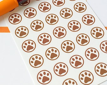 35 Paw Print Planner Stickers- Dog Bath or Dog Walk Reminder Stickers- perfect in your Erin Condren planner, wall calendar or scrapbook