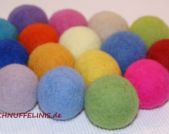 Felt balls LARGE, Jumbo Balls 4cm, lots of fun for kids, felt balls 8color, 100% pure felt wool