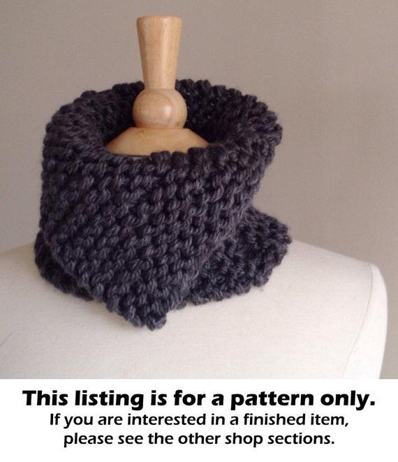 Chunky Knit Scarf Pattern Knit Neckwarmer Pattern Chunky