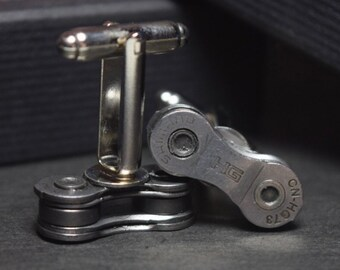Shimano bicycle chain cufflinks - gift boxed