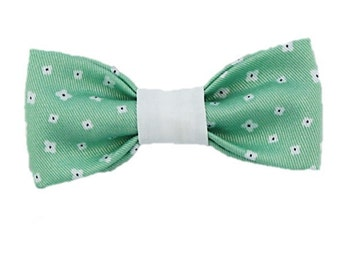 Preppy Mint Flowers dog bow|Hipster|Spring|Summer|Girly dog accessories|Gifts for dogs|Gifts for dog lovers