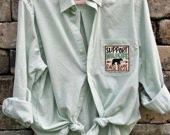 Refashioned mens shirt for the perfect Boy Mama