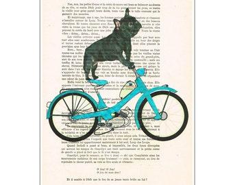 Art & Collectibles, prints, french bulldog, frenchie, Illustration Animal Poster Mixed Media Art Acrylic Painting Portrait, english bulldog