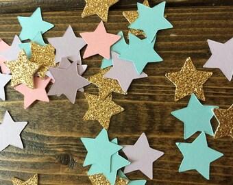 Unicorn Confetti - Unicorn Birthday Party - Unicorn Decor - Star Confetti - Birthday Party Decor - Party Confetti - Baby Shower Decor